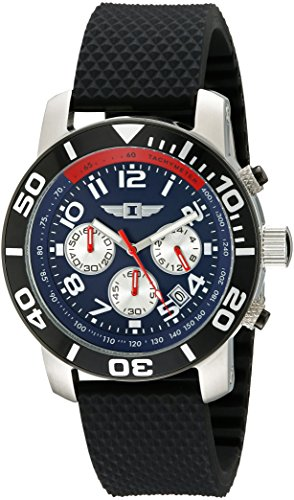 I By Invicta Men's 41701-003 Chronograph Stainless Steel Black (Chrono Black Dial Rubber Band)