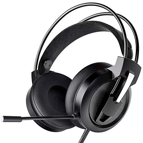Zentouch Gaming Headset, Xbox One Headset with 7.1 Surround Sound & Noise Cancelling Over Ear Headphones with Mic…