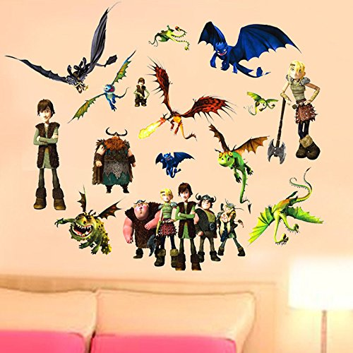 How to Train Your Dragon Wall Stickers Vinyl Art Decals Kids Room ...