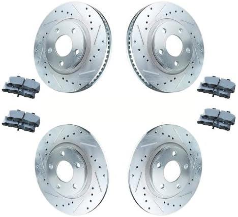 Rear Drill Slot Brake Rotors /& Ceramic Pads For 2006 2007 Mazda 6 Mazdaspeed