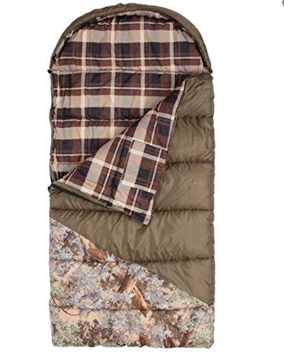 King's Hunter Series Junior +25-Degree Sleeping Bag, Green/Desert Shadow Camo Accents