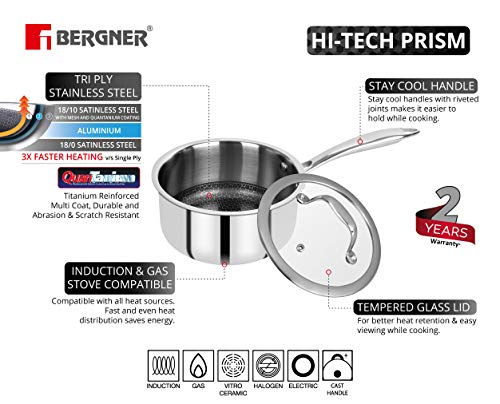 BERGNER-Hitech-Prism-Non-Stick-Stainless-Steel-Saucepan-with-Glass-Lid-14-cm-1-litres-Induction-Base-Silver-BG-31150-MM