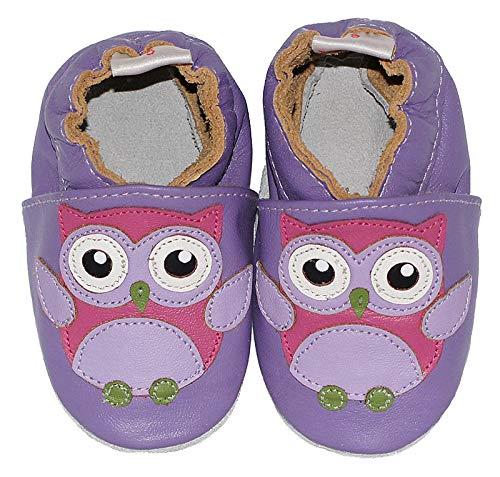 Diseño Color Zapatos Tamaño Mediano Bebé De Morado Para Búho Morado Babysteps wBt1zz