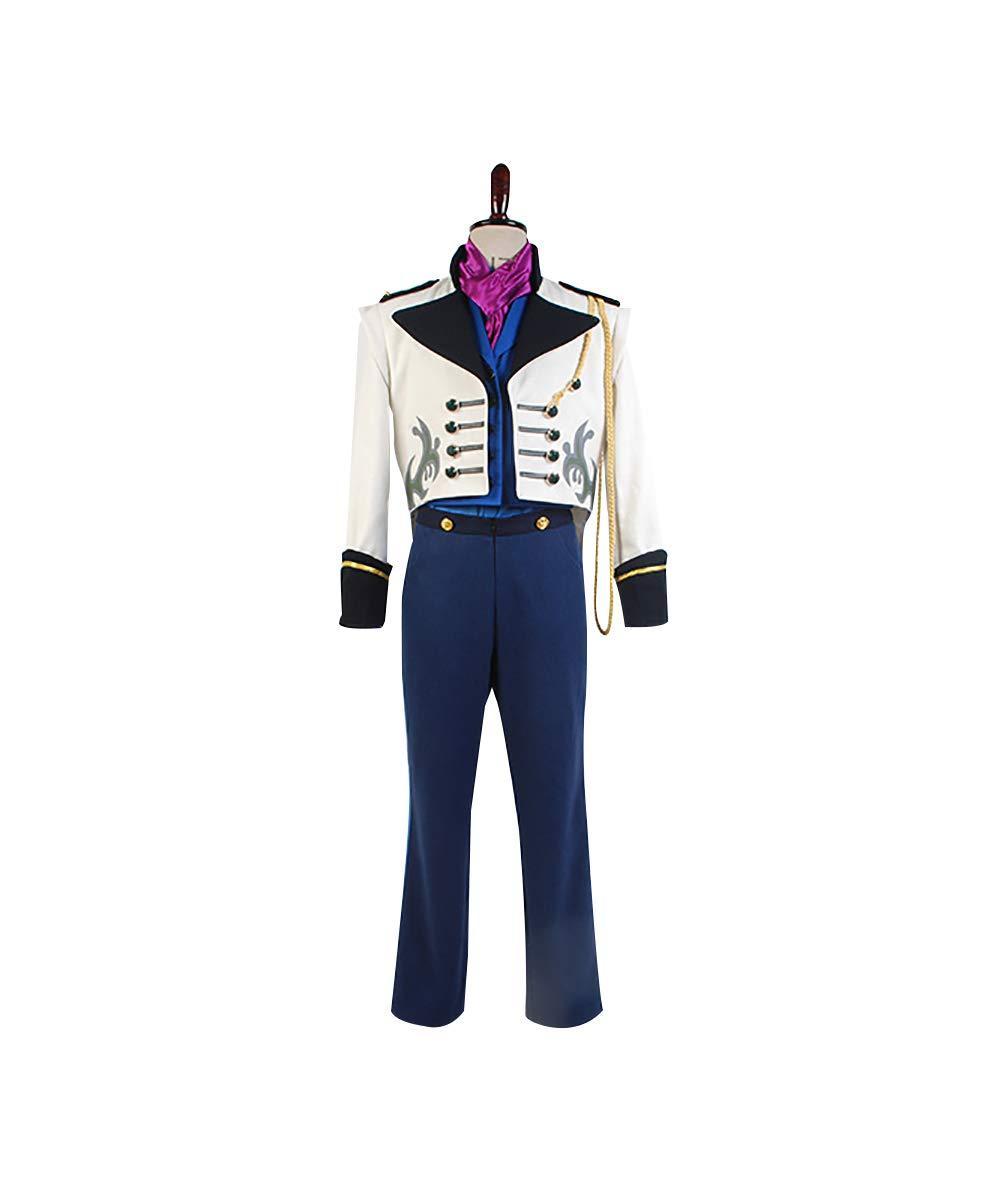 MingoTor Prinz Tail Coat Suit Cosplay Kostüm Herren L Weiß L