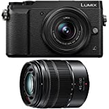 Panasonic DMC-GX85WK LUMIX 4K Mirrorless Camera with 12-32mm & 45-150mm Lenses, 3'', Black