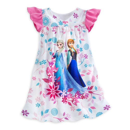 Disney Store Frozen Elsa/Anna Nightgown Nightshirt Sleepwear Size Medium 7/8