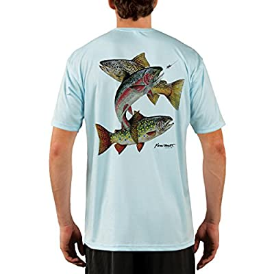 KEVIN BRANT Trout Montage Men's UPF 50+ Performance T-shirt