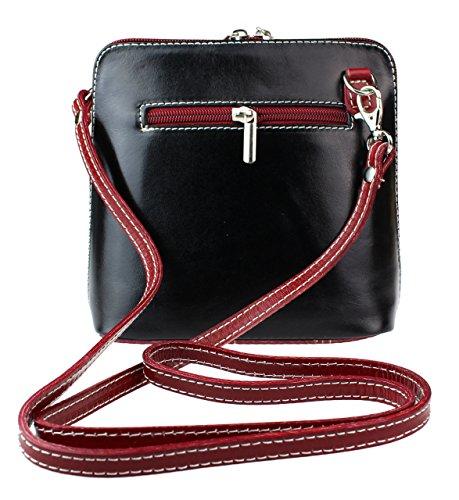 Girly mujer para Red Piel de Dark Handbags Bolso cruzados Black ZxwOraZq