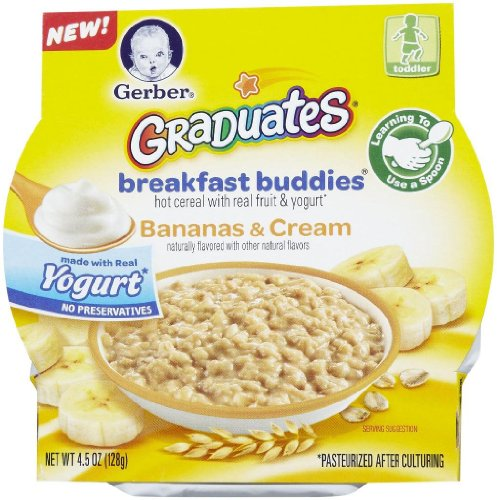 Gerber Graduates Breakfast Buddies - Bananas & Cream - 4.5 oz - 8 pk