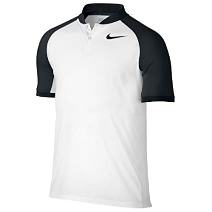 8d6e4d71 Amazon.com: Nike Modern Fit Transition Dry Color Golf Polo 2017 White/Black  Large: Sports & Outdoors