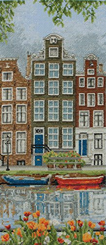 Anchor Amsterdam Street Scene Cross Stitch Kit