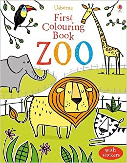 First Colouring Book Zoo Usborne First Colouring Books Amazon