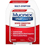Mucinex Fast-Max Adult Severe Congestion and Cold Caplets, 20 Count (Pack of 9)