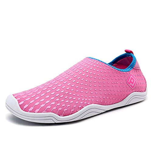 DREAM PAIRS Women's Quick-Dry Water Shoes Sports Walking Casual Sneakers Pink Blue Fuchsia