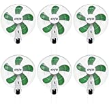 (6) HYDROFARM ACF16 Active Air 16 Wall Mountable Oscillating Hydroponic Fans