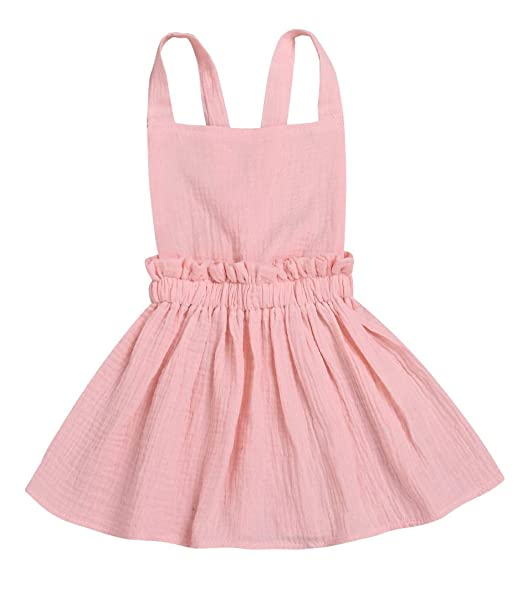 XARAZA Toddler Baby Girls Strap Suspender Skirt Overalls Dress Outfit