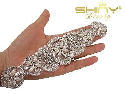 Shinybeauty applique con strass applique di cristallo applique