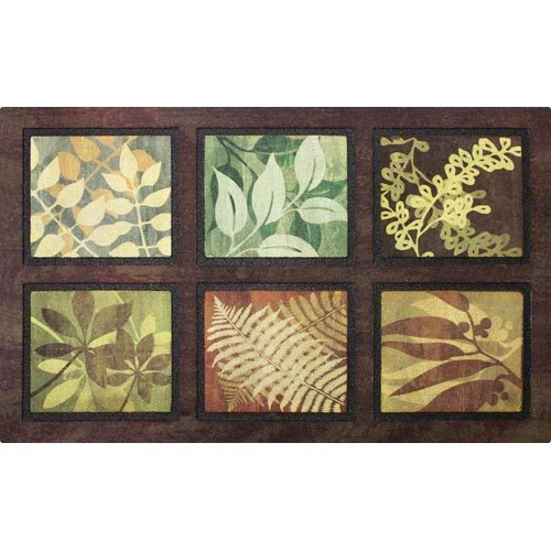 - Apache Mills Masterpiece Leaves Door Mat, 22-Inch by 36-Inch