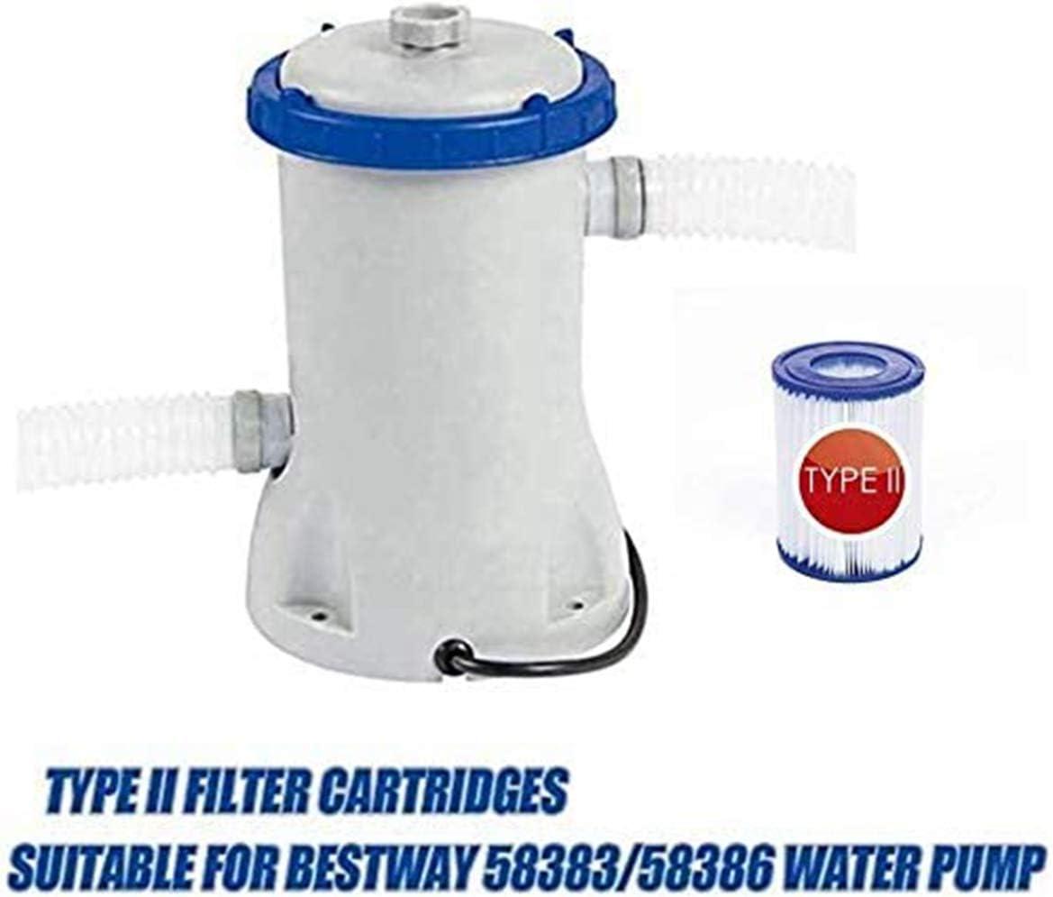 f/ür Bestway II Filter Gr/ö/ße 2 SYANO Pool-Filterkartusche Typ II Filterkartuschen Kartuschenfilter Papier. 2St/ück Spa Ersatz Aufblasbarer Poolreinigungsfilter Zubeh/ör