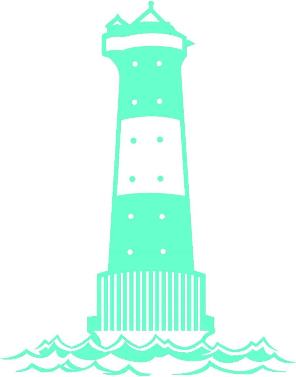 Samunshi Leuchtturm Arngast Aufkleber In 8 Größen Und 25 Farben 38x50cm Mint Küche Haushalt