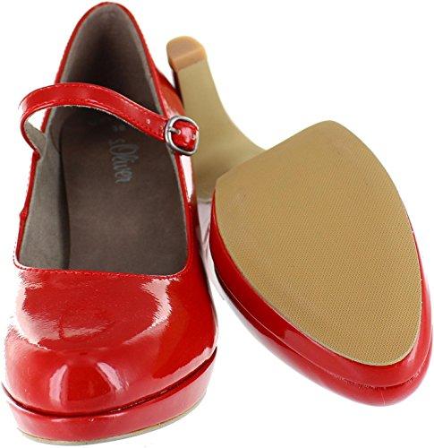 s.Oliver 5-24400-39, Scarpe col tacco donna rosso Red