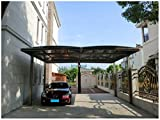 20' x 18' Premium Carport Aluminum Polycarbonate Garage Canopy Aluminum Durable with Gutter Metal Vehicle Shelter for Car, Yacht and Copter, Also Is Luxury Patio Cover