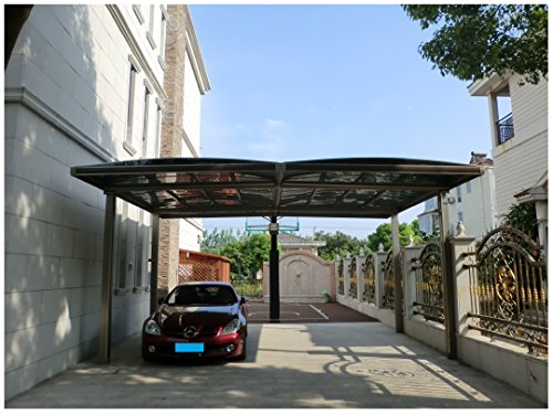 20' x 18' Premium Carport Aluminum Polycarbonate Garage Canopy Aluminum Durable with Gutter Metal Vehicle Shelter for Car, Yacht and Copter, Also Is Luxury Patio Cover by ClearYup (Image #7)