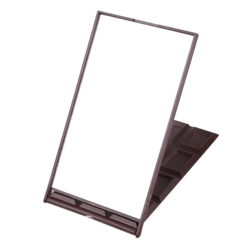 ZREAL 12 Miroir cosmétique de maquillage cosmétique de chocolat de fente miroirs pliables compacts