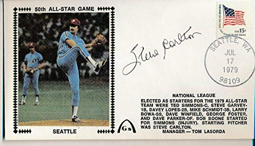 Steve Carlton Phillies Signed 1979 All Star Game First Day Cover Envelope 140881 - MLB Cut Signatures (1979 Mlb All Star Game)