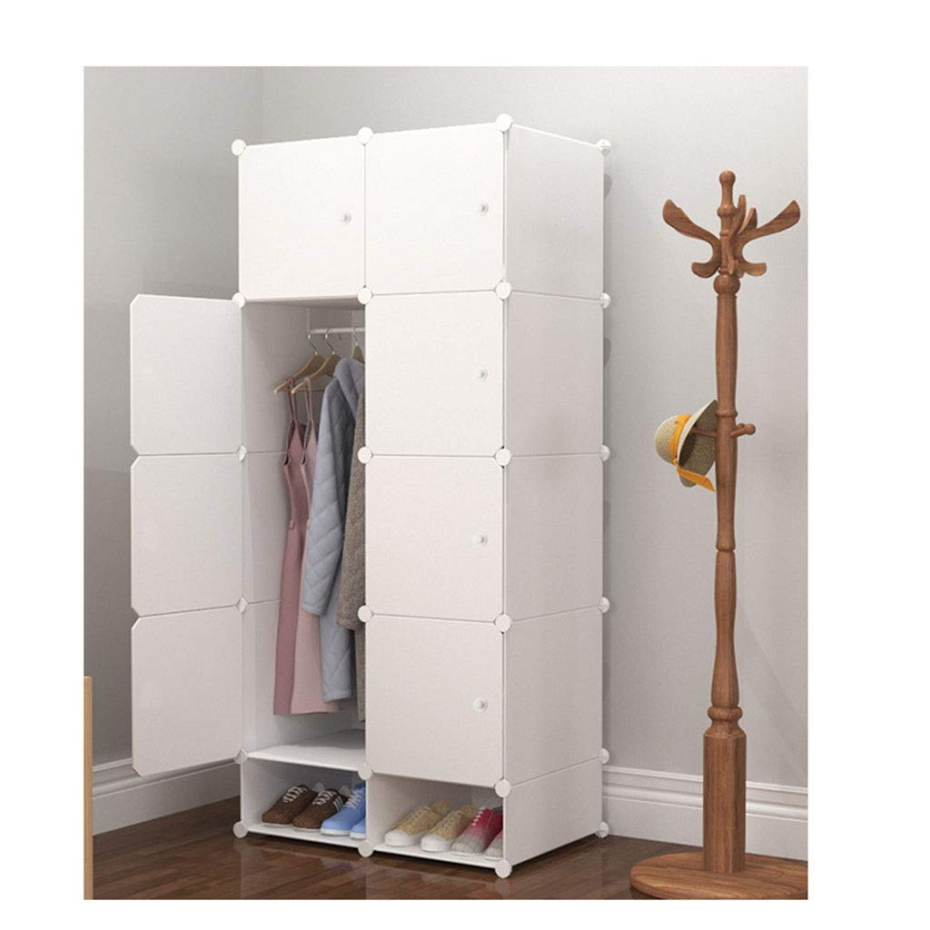 PPKQ Assembling The Wardrobe Simple Wardrobe Plastic Small Cabinet Household Wardrobe Closet Organizer 12-Cube Storage Unit (Size : 8-1) by PPKQ