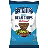 6 corn tortillas - Beanitos Black Bean Chips with Sea Salt, Plant Based Protein, Good Source Fiber, Gluten Free, Non-GMO, Vegan, Corn Free Tortilla Chip Snack, 6 Ounce (Pack of 6)