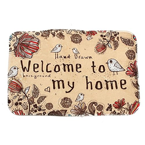 GVGs Shop 1 Set Welcome To My Home Carpet Bath Mat Toddler N