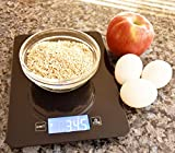 AcuHealth Smart Digital Nutrition Scale with iOS & Android Smartphone and Tablet Devices