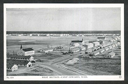 (West Section Camp Edwards MA postcard 1940s)