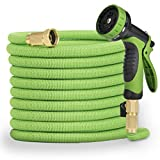 Pamapic 50ft Expandable Garden Hose, Lightweight and Durable, Flexible Water Hose with 3/4