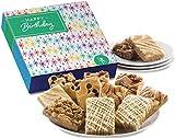 Fairytale Brownies Birthday Bar Dozen Gourmet Food Gift Basket - 3 Inch x 2 Inch Blondie Bars - 12 Pieces - Item SB812