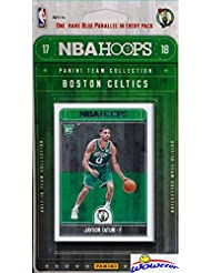 Boston Celtics 2017/18 Panini Hoops NBA Basketball EXCLUSIVE Factory Sealed Limited Edition 10 Card Team Set with ROOKIE of JAYSON TATUM plus Kyrie Irving,Marcus Smart & More! Shipped in Bubble Mailer