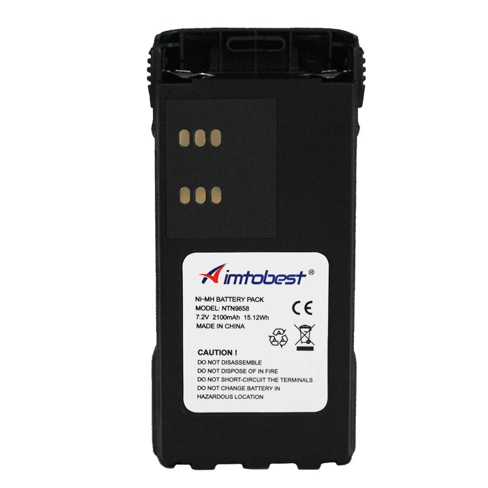 NTN9858C NTN9858 2100mAh Ni-MH Battery Compatible for Motorola XTS1500 XTS2500 PR1500 MT1500 NTN9815 KBN-9858 Two Way Radio with Belt Clip