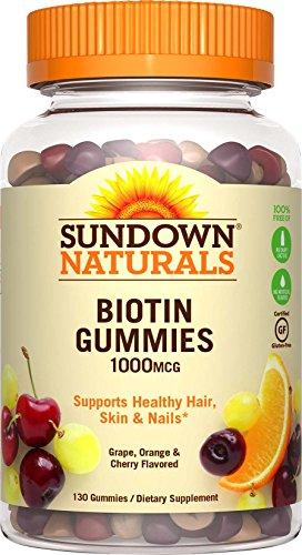 Sundown Naturals Biotin 1000 mcg, 130 Gummies
