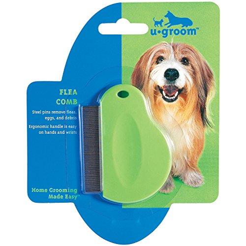 u-groom-flea-combs-with-contoured-grips-ergonomic-combs-for-grooming-dogs-3