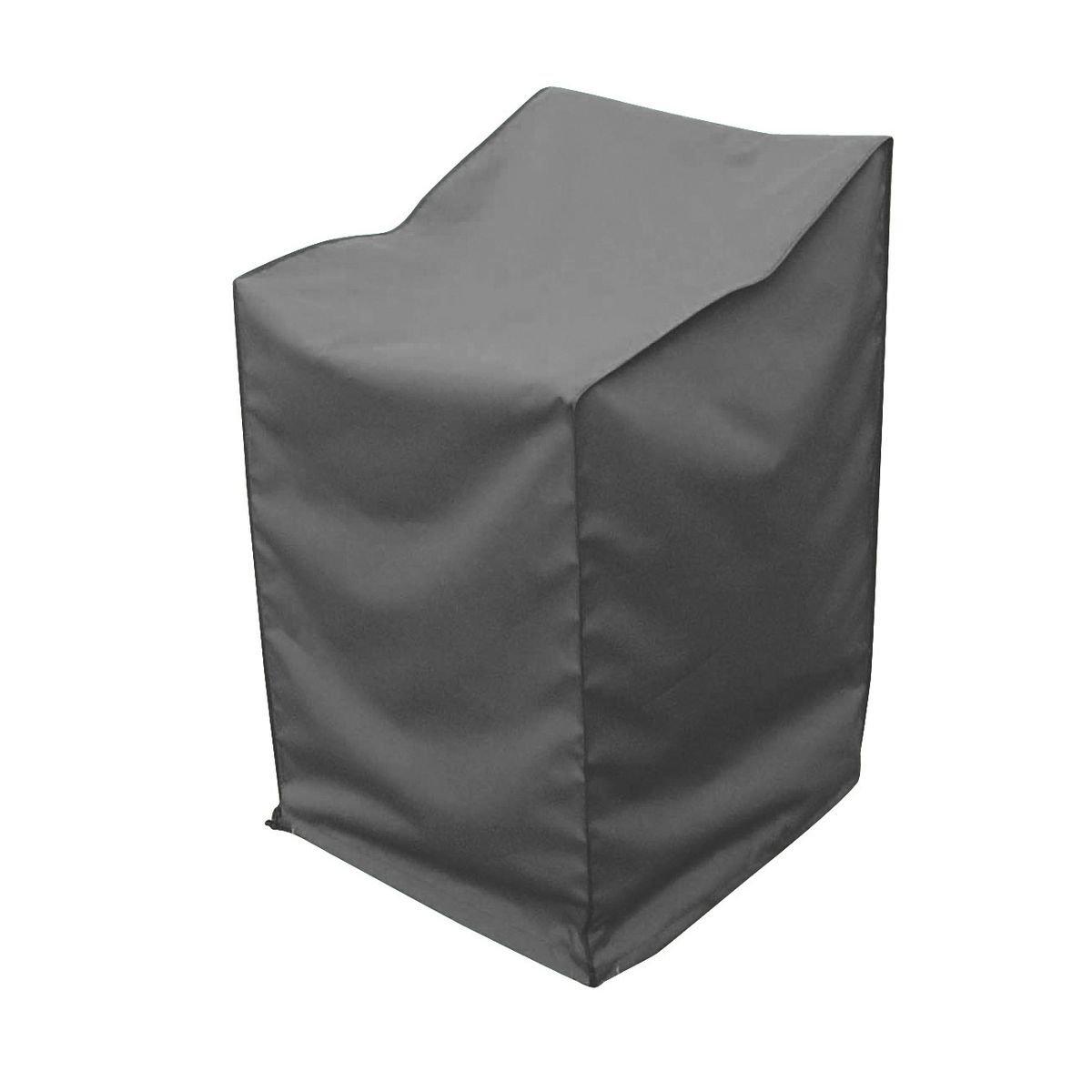 #greemotion Abdeckhaube für Stapelstühle – Schutzhülle in Grau – mit Zugband#