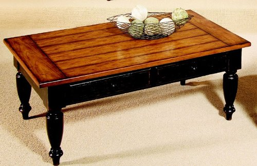 Progressive Country Vista Antique Black/Oak Coffee Table