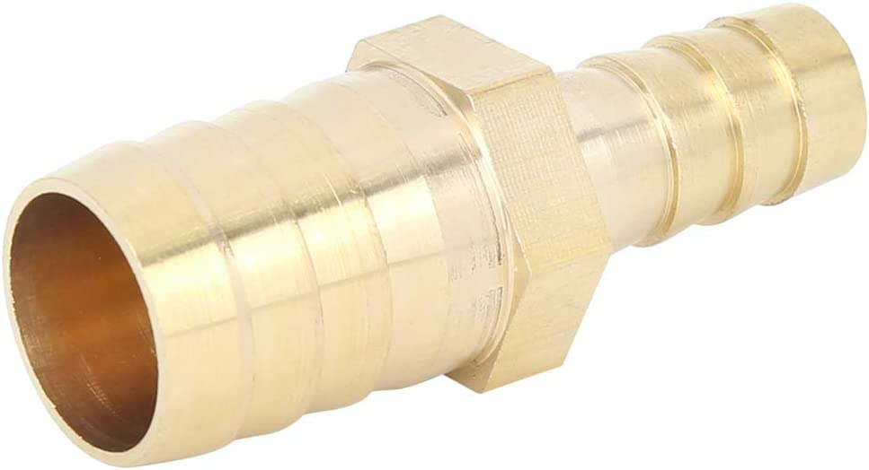 X AUTOHAUX 19mm to 12mm Brass Barb Hose Straight Connector Adaptor Reducer Splicer Fitting for Car