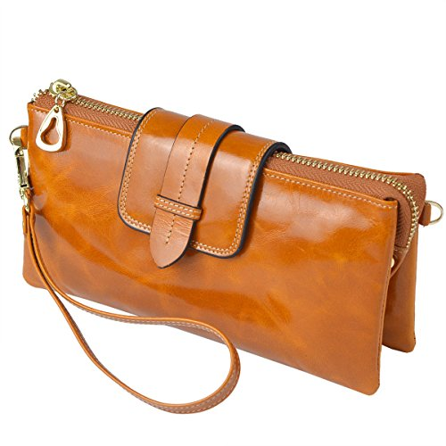 sale where to buy agreatvarietyofmodels Bveyzi Women's Leather Smartphone Wristlet Clutch Wallet ...