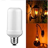 LED Flickering Flame Bulb, OWIKAR 3 Modes Flame Effect Fire Light Bulb Simulated Nature Fire Atmosphere Decorative Lamps for Holiday / Bars/ Chrismas Decoration (E26 5W)