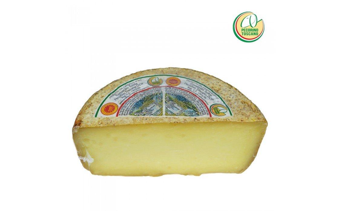 Pecorino Toscano PDO - Aged Sheep Cheese - Half wheel 1.9 lbs/Kg. 1.0