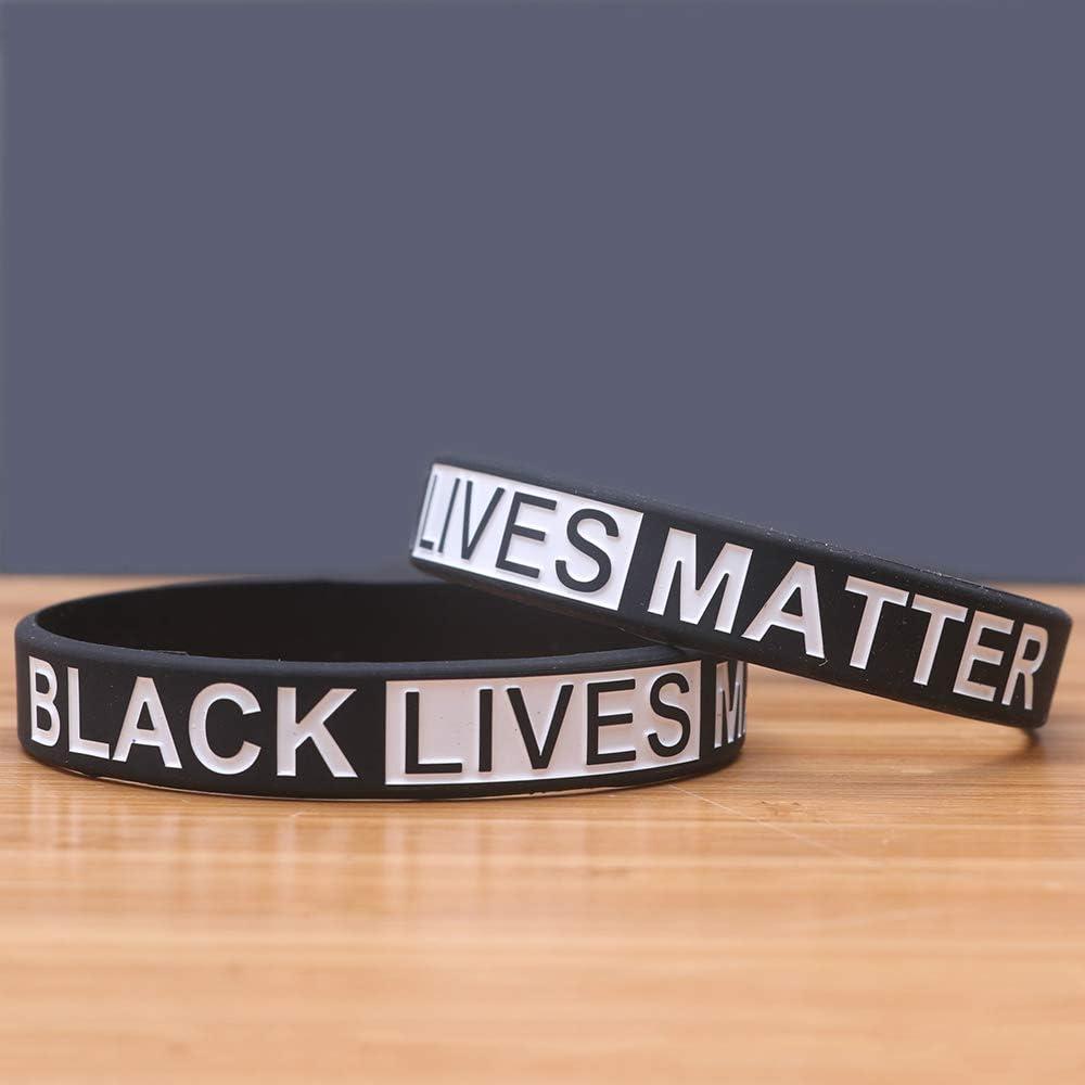 Zdy 5Pcs Silicone Bracelet BLACKLIVESMATTER Black Life Substance Silicone Wrist Strap Bracelet