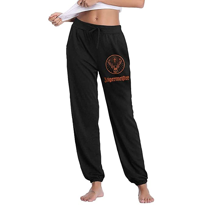 Poxiaoidi Jagermeister - Pantalones de chándal para Mujer - Negro ...