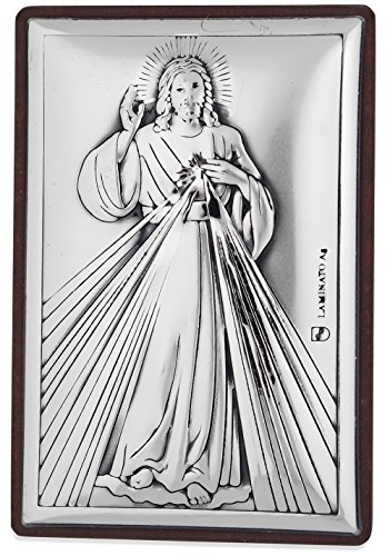 (Silver-Plated Catholic Mini-Shrine by Venerare (Silver-Plated, Divine Mercy))