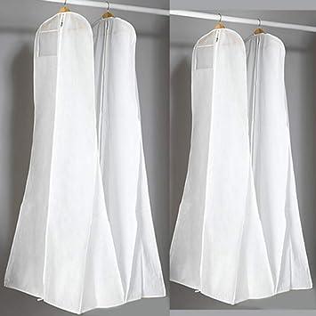 GloryMM Trailing Fishtail Wedding Dress Dust Bag Evening Dress Dust Cover Bridal Travel Garment Storage Bags